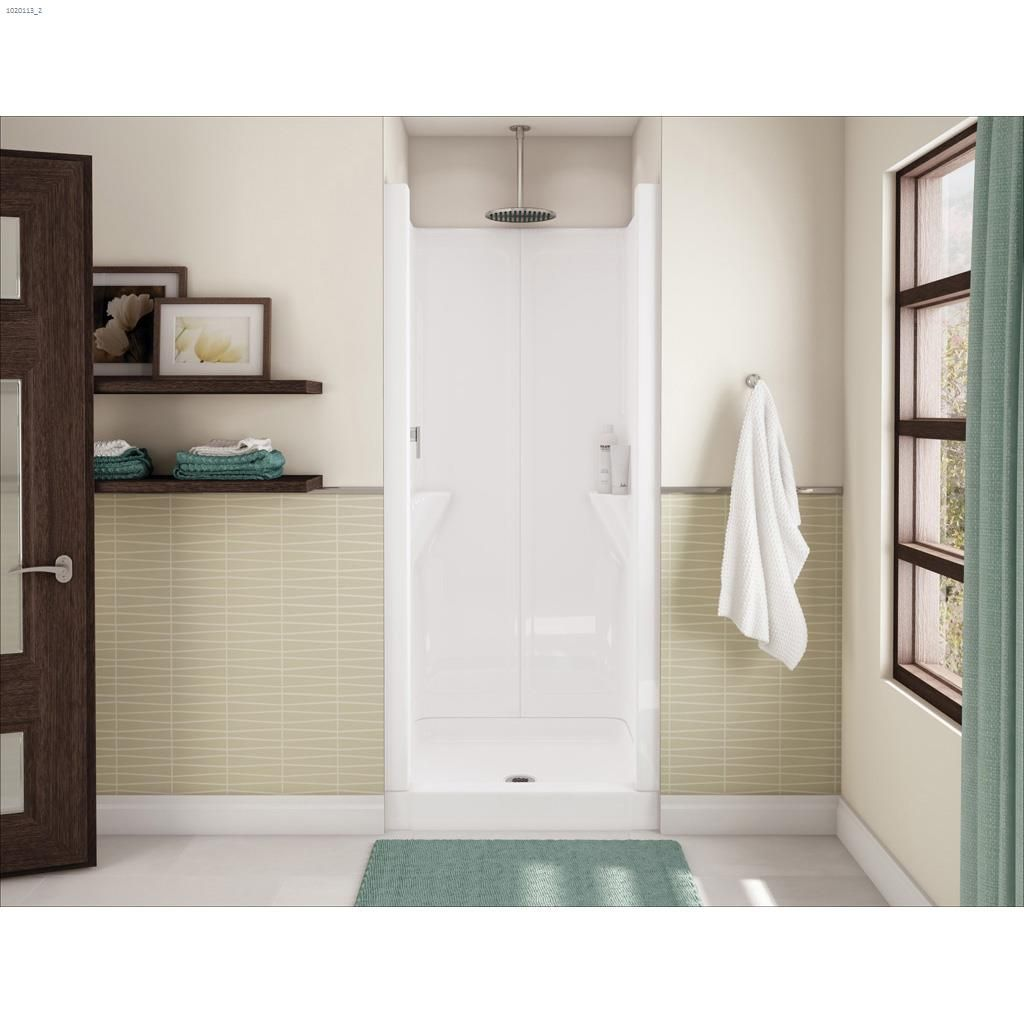 Kent.ca | Maax Bath - Jupiter White 1-Piece Shower Stall | Kent ...