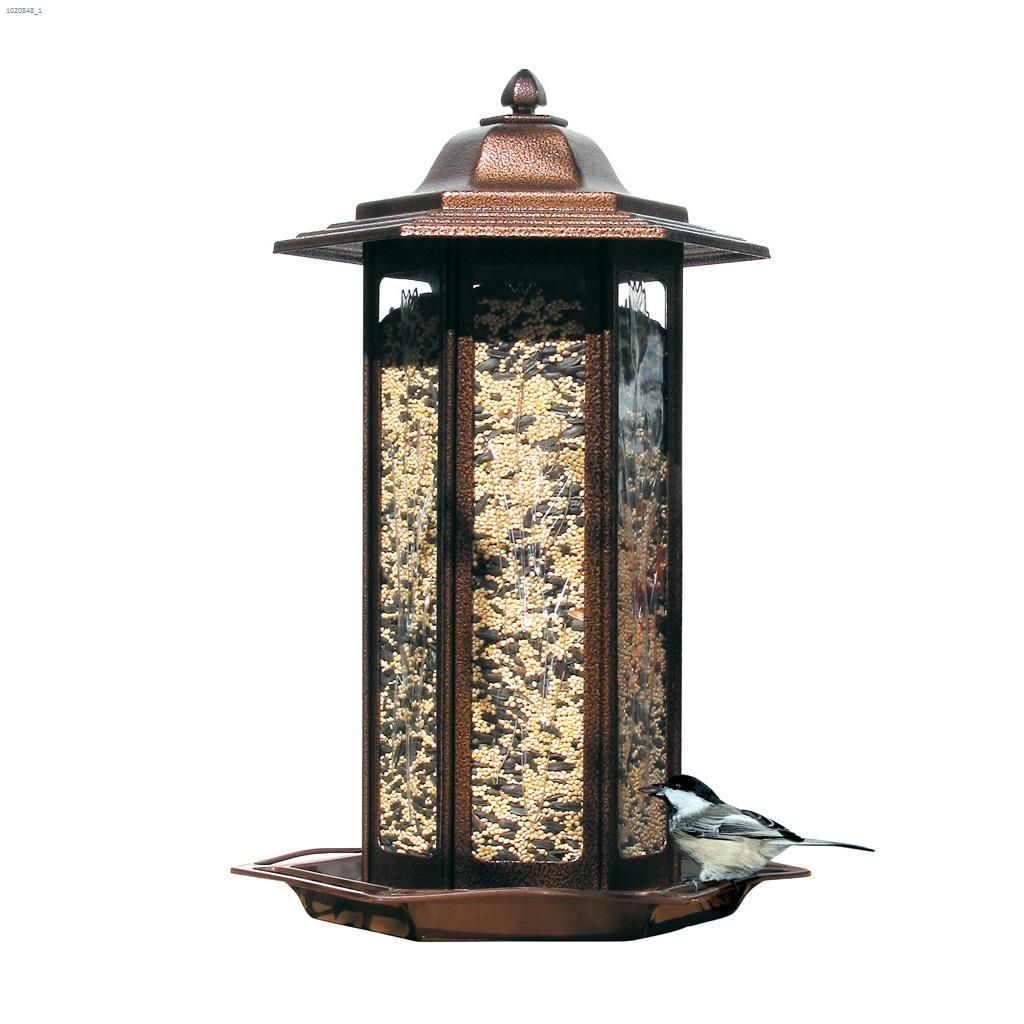 Perky Pet 6 Lb Copper Tulip Garden Lantern Feeder