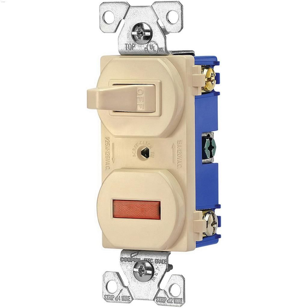 Cooper Wiring Devices | Kent Ca Cooper Wiring Devices Ivory Toggle Switch With Pilot