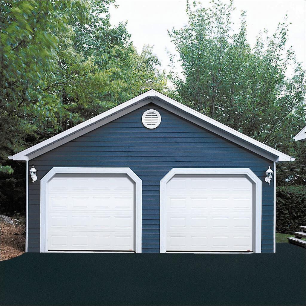 8 x 7 ice white dualforce garage door