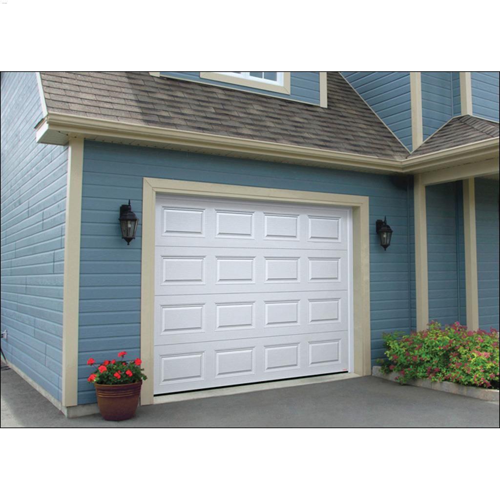 8 x 7 ice white triforce garage door