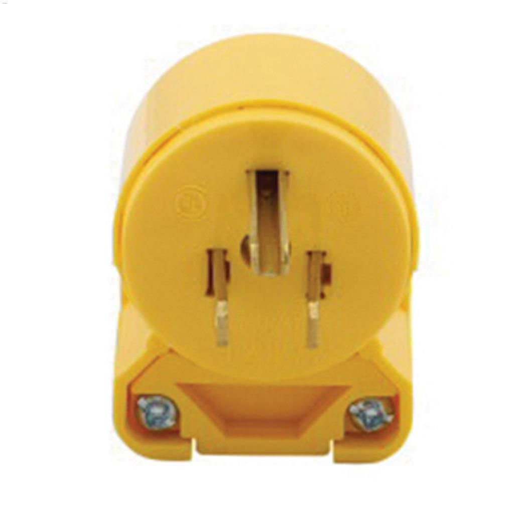 Cooper Wiring Devices Yellow Angled Plug 15a 125v 2p 3w A Canadian