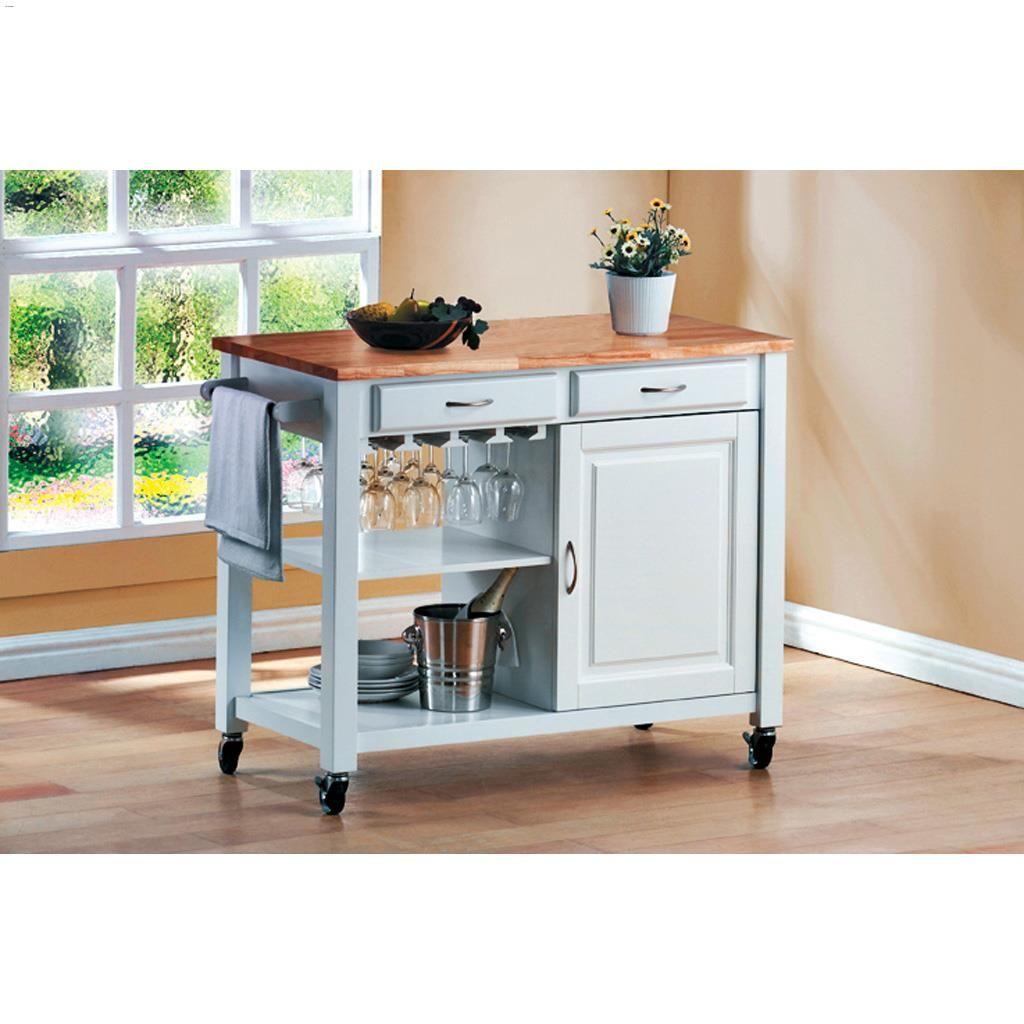 225 & Miami Kitchen Cart In White