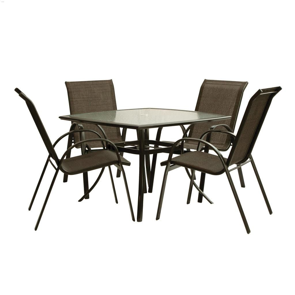 Sable 5 Piece Square Table Dining Set