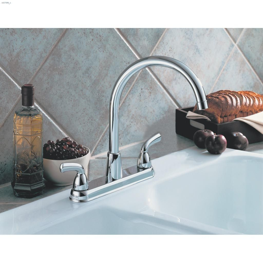 Kent.ca | Delta Faucet - 2-Handle Chrome Lever Peerless® Kitchen ...