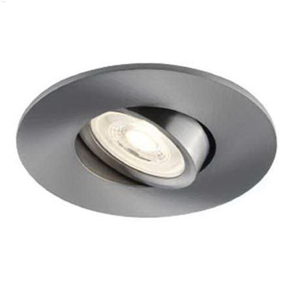 7 watt 500 lumen chrome insulated recessed lighting fixture