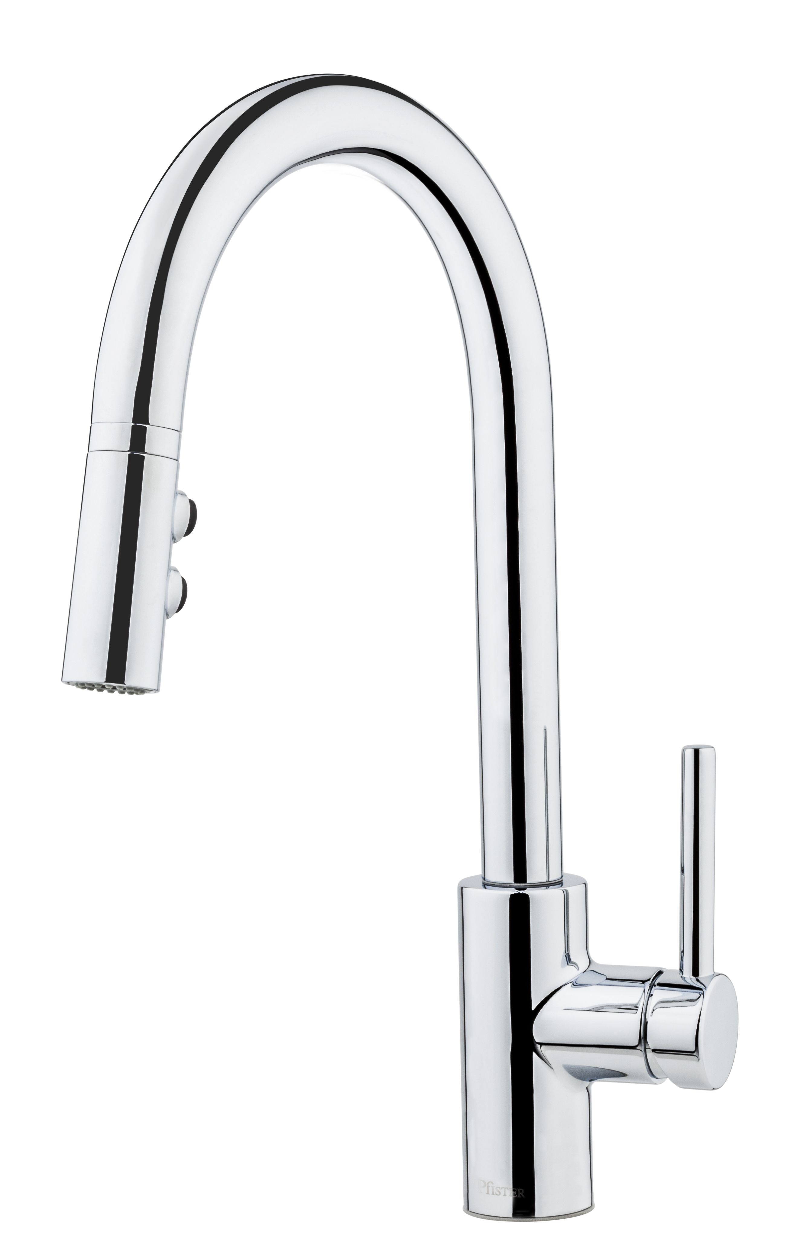 Fullerton single handle pull down chrome kitchen faucet