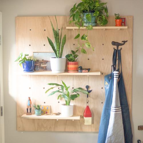 How to Make a Pegboard Shelf