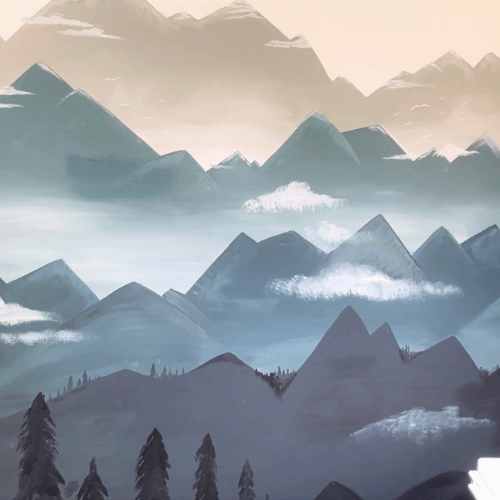 How to Paint an Easy Mountain Landscape Mural