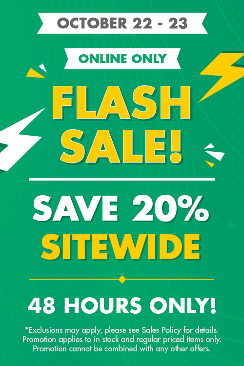 flash sale! - 20% off sitewide