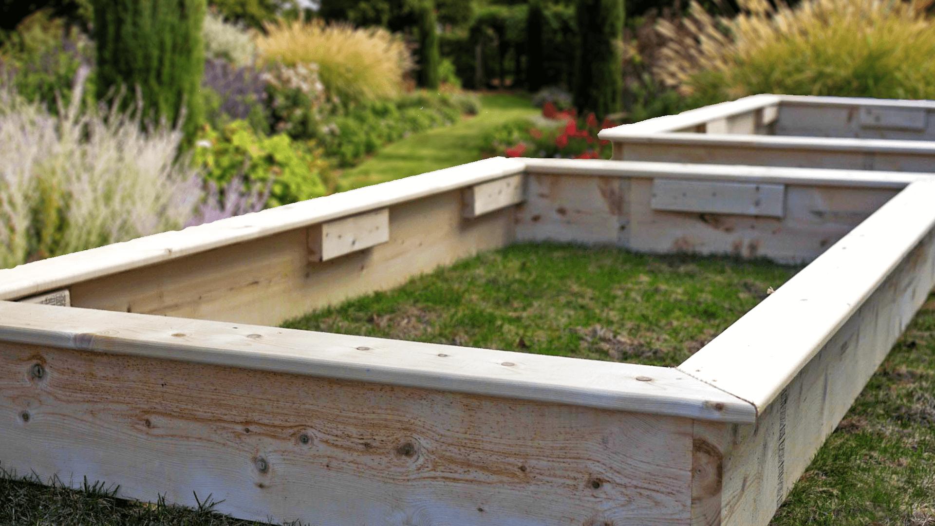 assembled garden bed