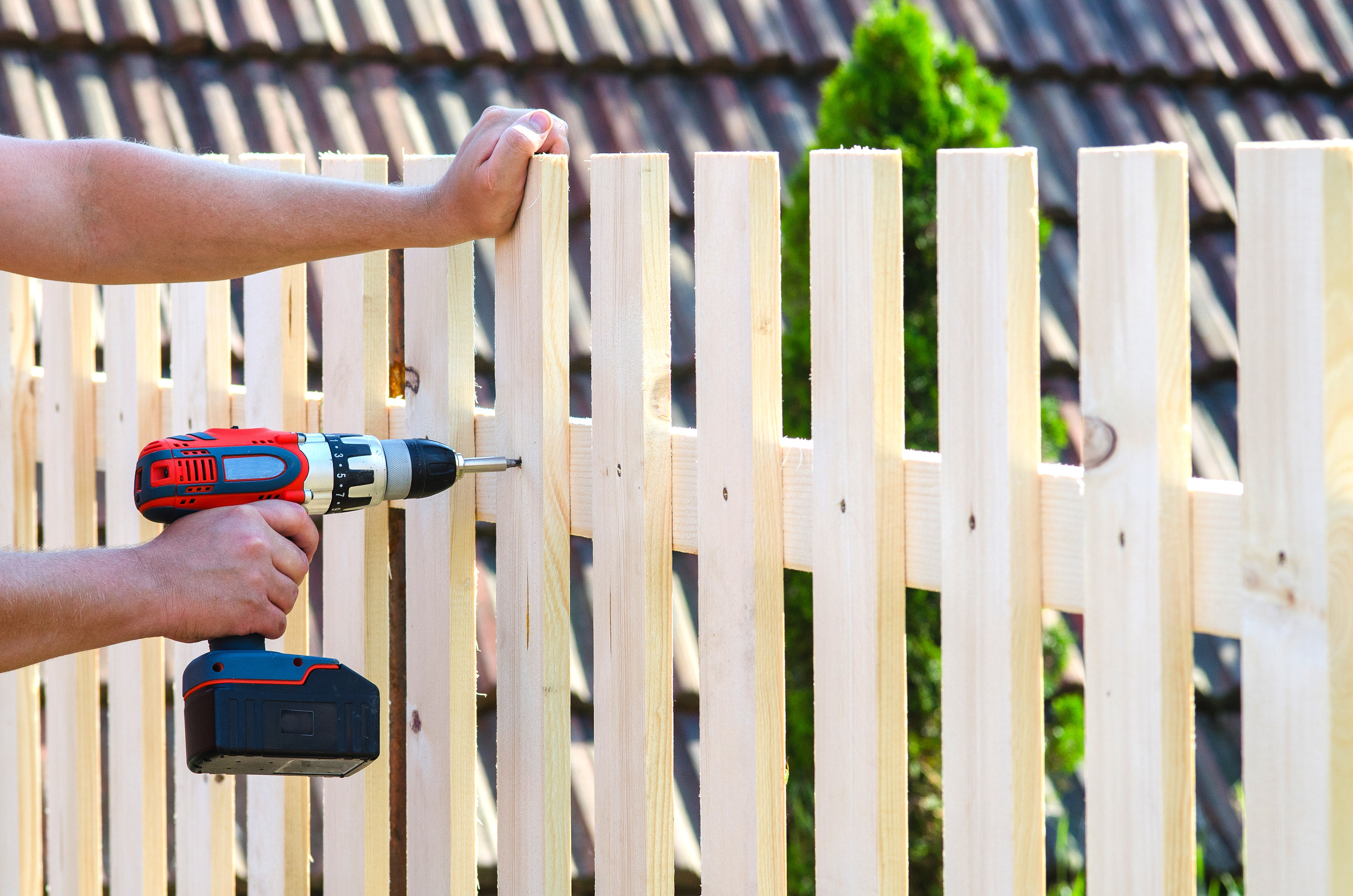 drilling fence boards