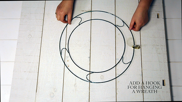 Add a hook for hanging your wreath