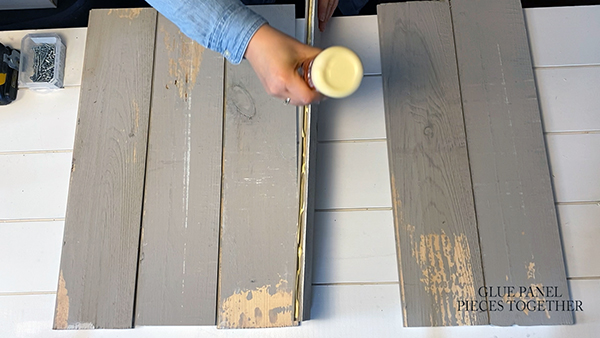Run a bead of wood glue in the female channel of a panel.