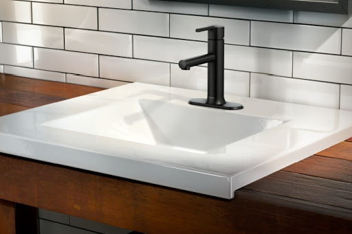 Moen Arlys single handle black faucet