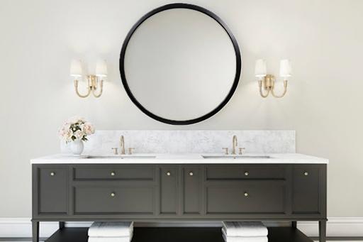 Columbia Frame black Bentwood Lush mirror