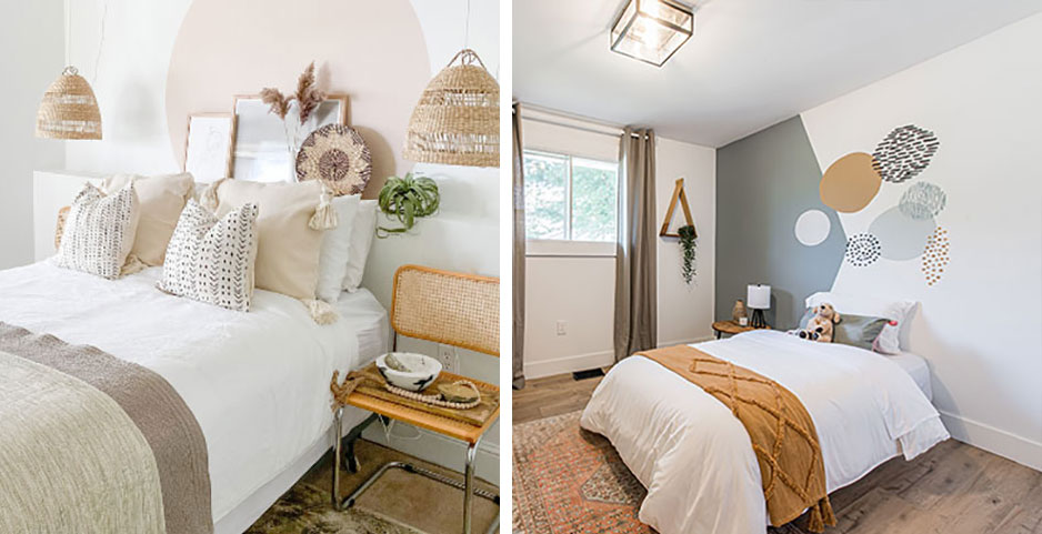 Indie Home Kimiko Willgress and DC Woodworks Denika Coakley room makeover