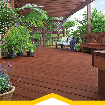 How to stain your deck