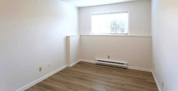 Baseboard Heater in Spare Room