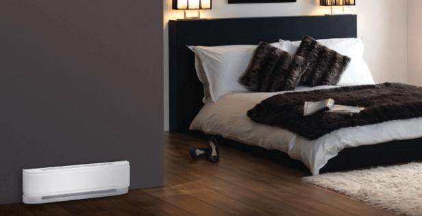 Baseboard Heater in Bedroom