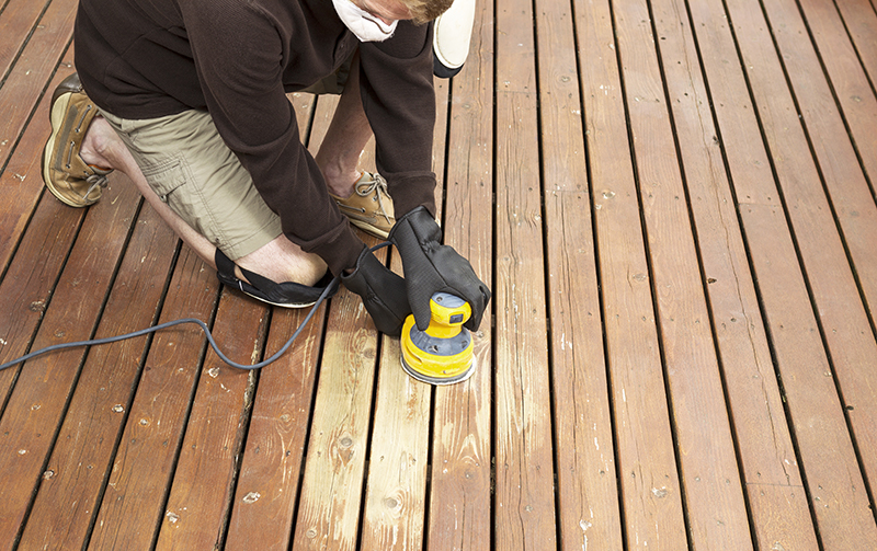 Deck Stain Application