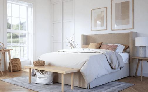 guest bedroom painted walls