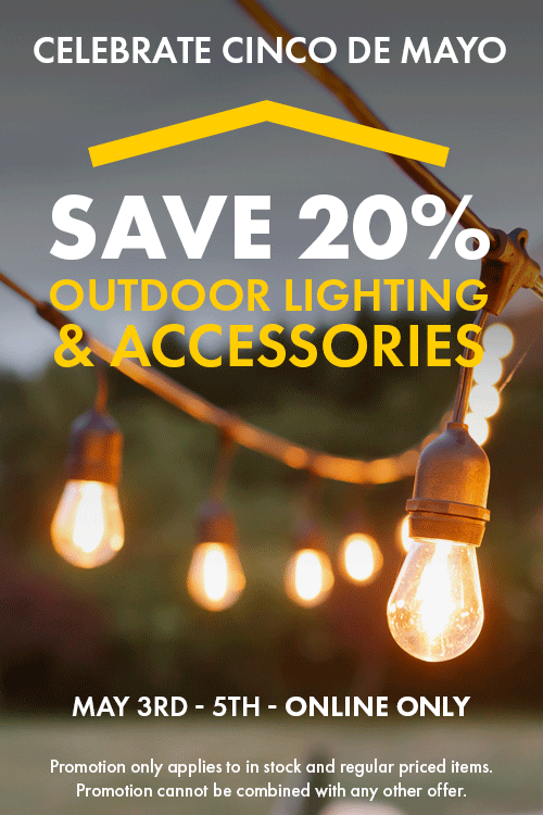 Save 20% Outdoor Lighting