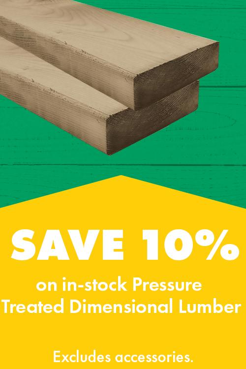 Save 10% PT Lumber