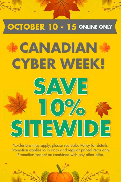 canadian cyber week! - save 10% sitewide