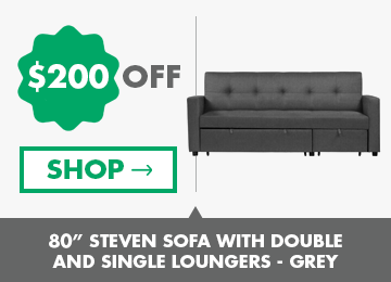 """80""""-Steven-Sofa-With-Double-And-single-Loungers-Grey"""