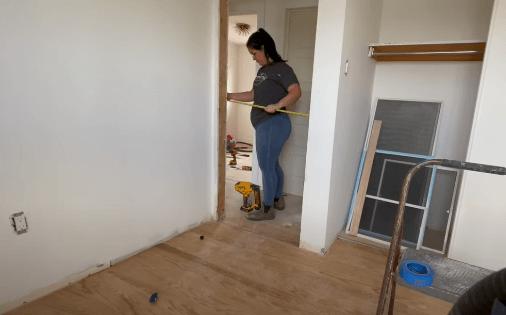 measuring space for door