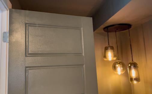 grey painted door