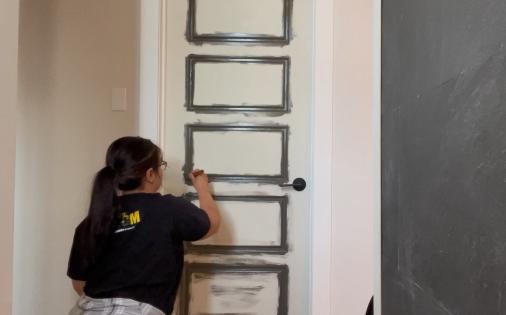 painted door grooves