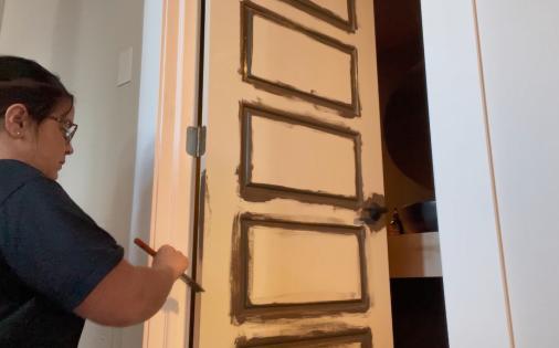 painting side of door