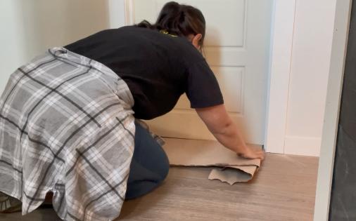cardboard protecting floor