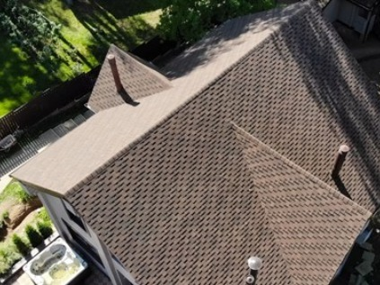 Top-down view of roof